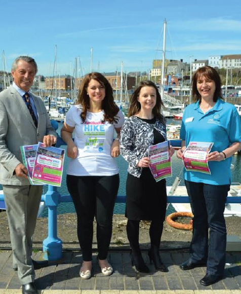 (L-R): Phil Thompson MBE, Trustee of the Paul Sartori Foundation, Ellen Picton , Proprietor of Healthaspire, Cathryn Nicholas , Consumer Marketing Executive at the Port of Milford Haven, Toni Dorkings , Community Fundraiser for the Paul Sartori Foundation.