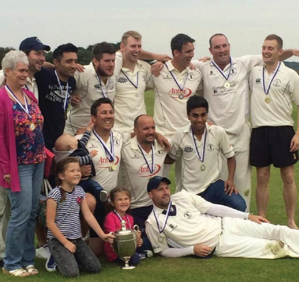 Celebrations: Haverfordwest celebrate retaining their Division One crown