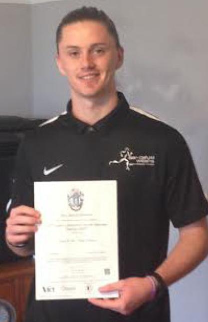 Siôn-Dafydd from Felinfoel: Now a qualified Sports Massage Therapist
