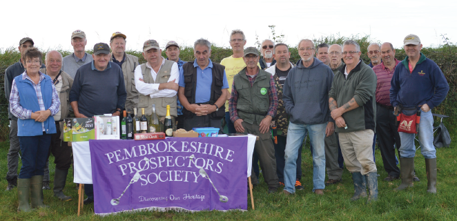 Pembrokeshire Prospectors Group: Charity search in aid of Pembrokeshire Cancer Care, Pembroke Dock