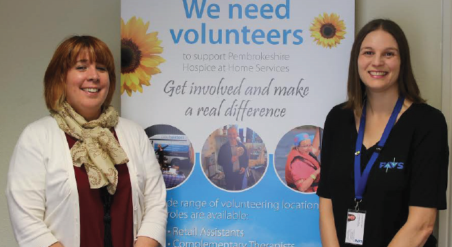 (L-R): Judith Williams, Volunteer Administrator at the Paul Sartori Foundation, and Louise Wilkinson, Volunteering Development Officer for PAVS