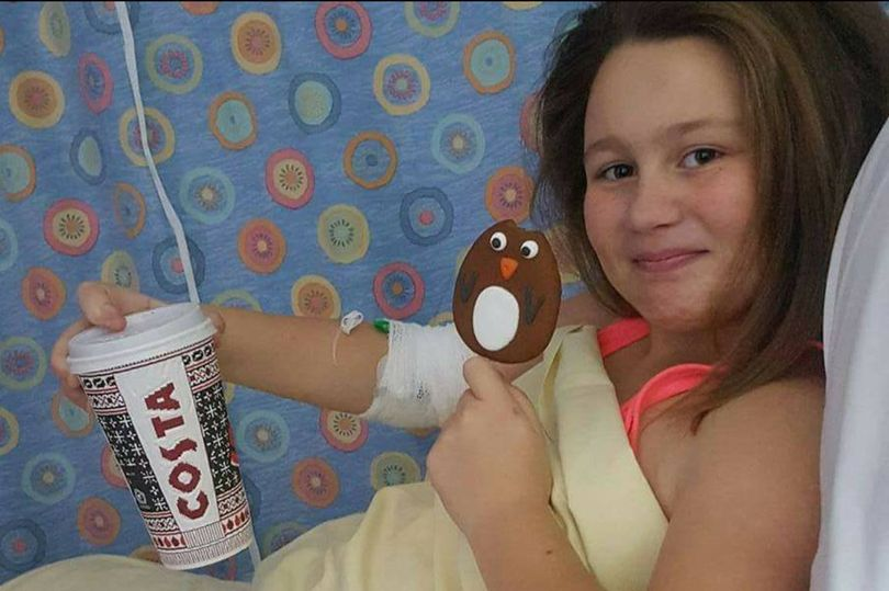 Tia Llewellyn: The 12-year-old suffers from an aggressive cancer