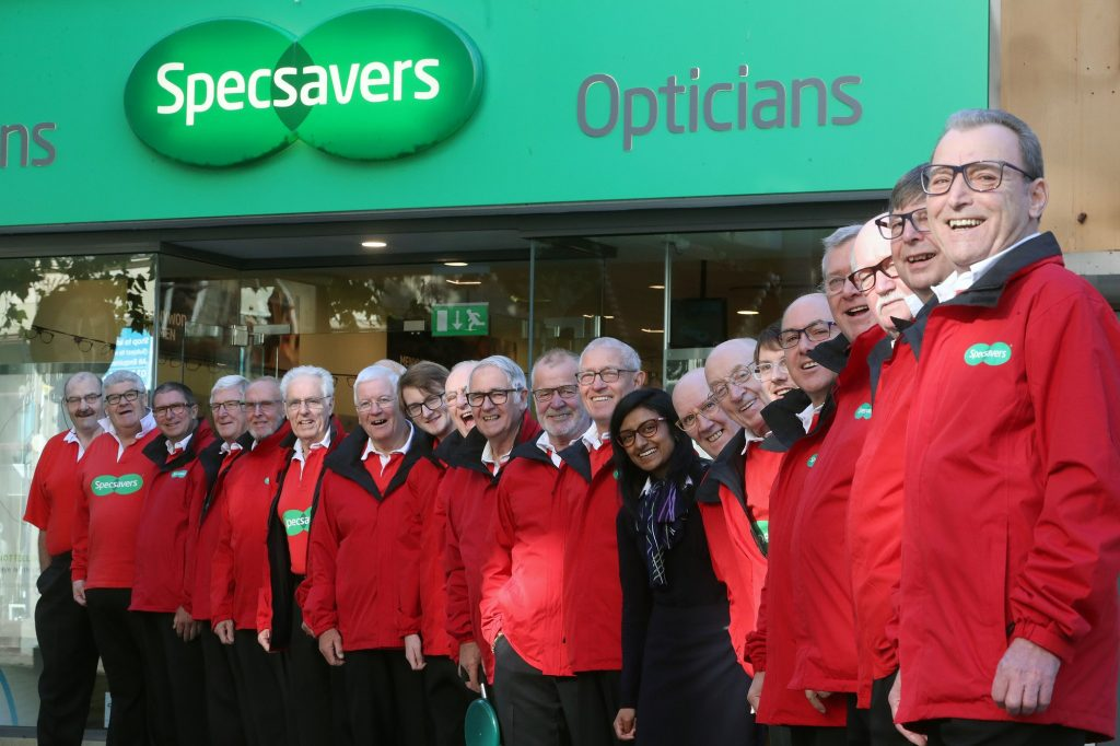 Festive treat: The Specsavers Christmas choir