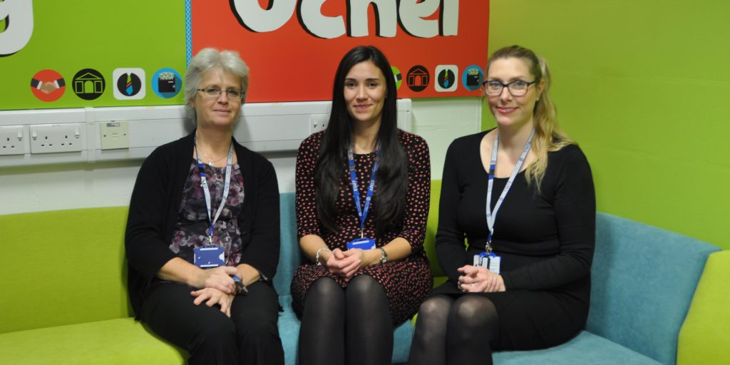 Left to right: Work Experience Co-ordinator, Helen Coles, Employment Bureau Consultant, Jen Dyer with Employment Bureau Administrator, Bethan Schooling